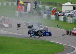 Mallory Park Crash 2 - Copyright Andy Newman 07826 892490