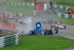Mallory Park Crash 3 - Copyright Andy Newman 07826 892490