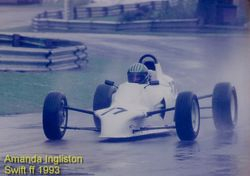 Racing in the wet at Ingliston