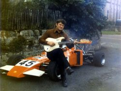 Dad with his Formula Atlantic...and guitar!