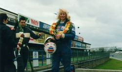 On the Podium at Silverstone