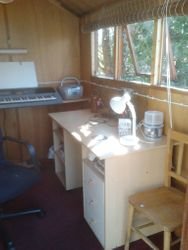 Inside my composing shed