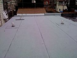 new finished flat roof
