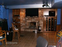 custom stone fire place