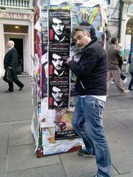 Royal Mile postering work