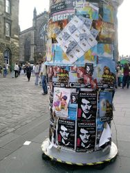 another billboard on Royal Mile