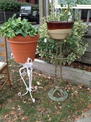 Iron & brass plant stands