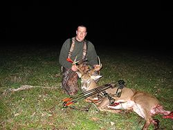 Mike with a nice buck...