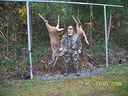 Jon's Big Doe & Dennis' 7 Pt. Buck