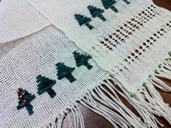 Christmas Tree Loom Weaving Project