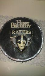 Raiders NFL Chocolate Cake