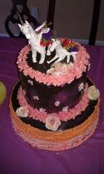 Flying Rainbow Unicorn Cake, Baby Shower Cake