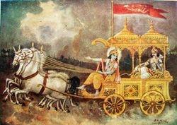 Sri Krishna teaches Ajuna