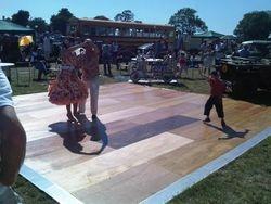 20ftx20ft wooden dancefloor at Pure Nostalgia 2011