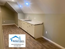Kitchenette in a finished attis