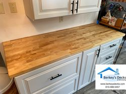 Dry bar with butcher block top