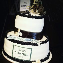 50th Chanel Themed Cake
