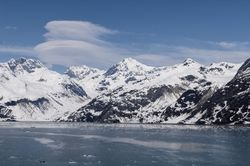 Clouds over glacier bay