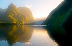 Doubtful sound sunrise NZ