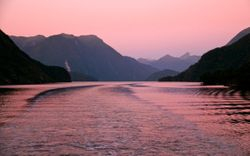 Doubtful sound sunset NZ