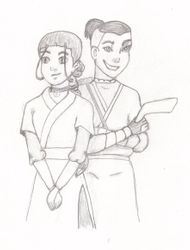 Katara & Sokka sketch by BSG