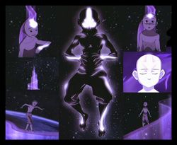 Aang's Avatar State Collage by BSG