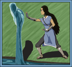 Katara in Water Tribe warrior outfit by BSG