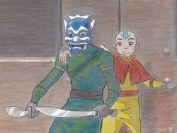"""""""Aang & the Blue Spirit"""" by BSG"""