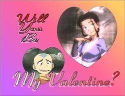 Aang and Katara Valentine by BSG
