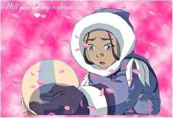 Aang and Katara Valentine by Lora Elric