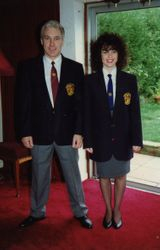 Young Sensei! With daughter Kerry