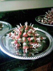 Tomato and mozzerella swords