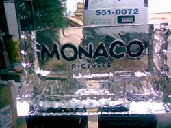 Colored lettering for Monaco pictures
