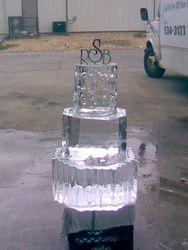Ice Sculpture wedding cake