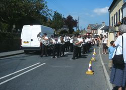 BUDE TOWN BAND MARCHING  AT KILKHAMPTON FETE