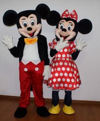 Mickey and Minnie Mouse Mascots