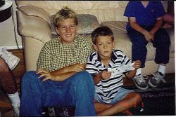 Long Ago...Greg and Connor!