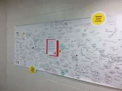 Code of Conduct Banner with Signatures of Students