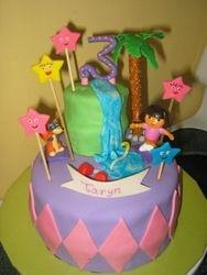 Taryn's Dora cake