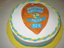 Police badge cake