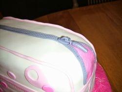 close up of the zipper