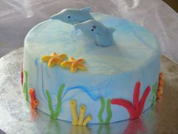 dolphin groom's cake