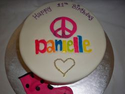 Peace out cake