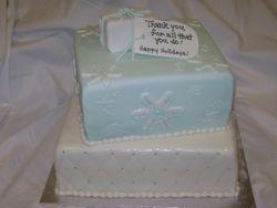 Holiday teacher cake