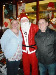 Slim Santa in West Street