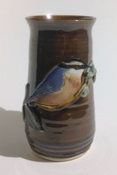 Red Breasted Nuthatch Vase $55