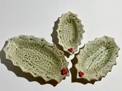 Set of Holly Leaves $38