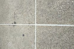 Finished driveway joints