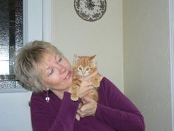 Susan with Miss Kitty