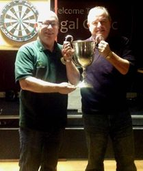 ALAN HANNA PRESENTS THE CUP TO PHILLIS LEATHEM